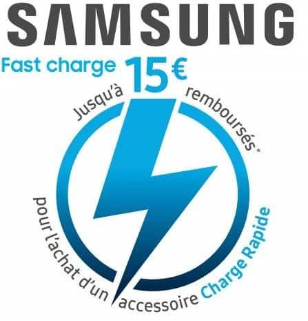 Offre de remboursement Samsung : 15€ sur les accessoires de Charge Rapide