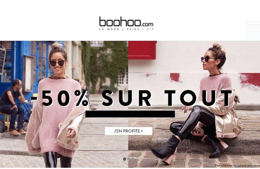 Remise 50% sur BOOHOO Vêtements femmes et hommes