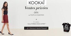 Vente privée Kookaï 1 sac gratuit