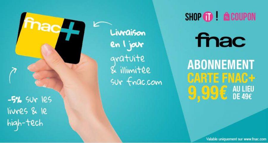 carte FNAC+ à moins de 10 euros