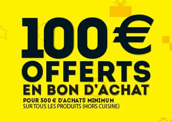 Conforama 50 euros offerts pour 300 euros d achats for Conforama black friday