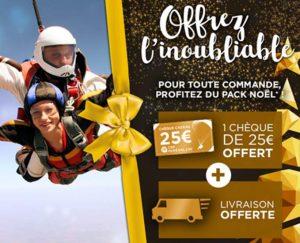 1 cheque cadeau Cap Adrenaline 25€ achete 1 cheque cadeau offert