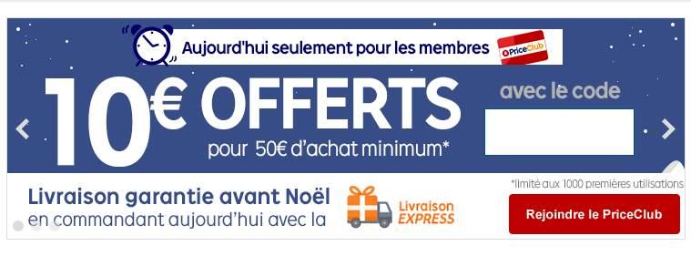 -10€ pour 50€ d'achats sur Priceminister