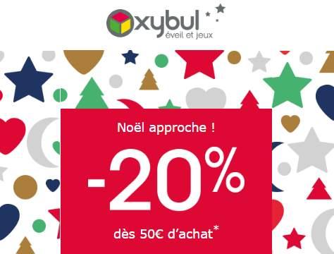 20% sur Oxybul dès 50€ d'achat