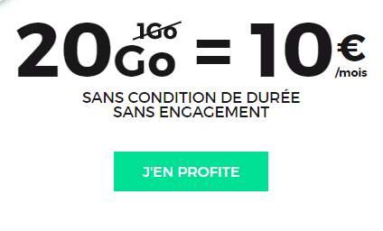 20Go au lieu de 1Go le forfait RED illimité de 10€