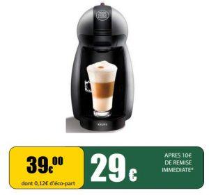 29€ la machine à dosettes Dolce Gusto Krups
