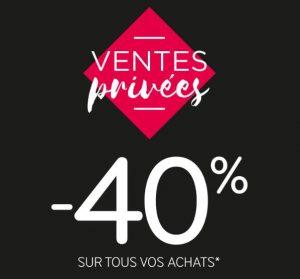 40% de remise sur MIM ventes privées