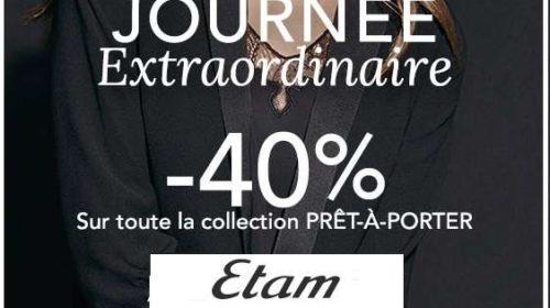 40% sur tout le prêt à porter ETAM