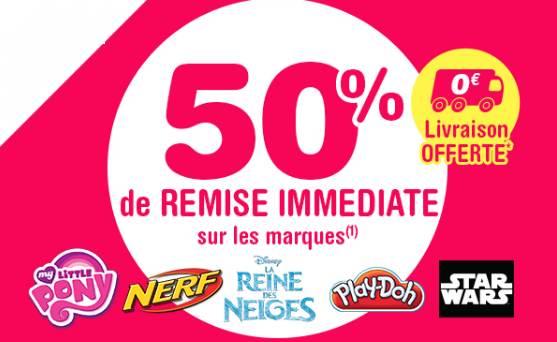 50% de remise sur des jouets Nerf, Play-Doh,
