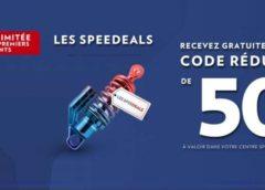 50€ pour faire pour 100€ de prestation dans un centre auto Speedy (vidange, climatisation, freinage, révision…)