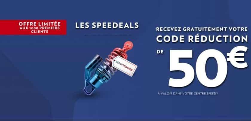 50€ les 100€ centre auto Speedy