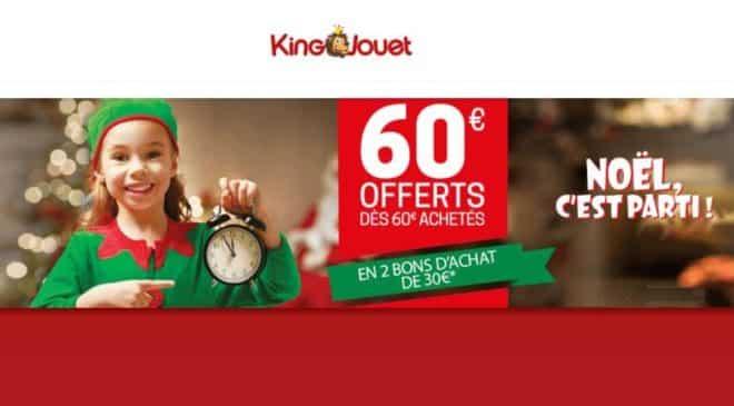 60€ offerts en bons d'achat sur King Jouet