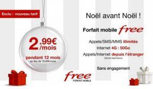 Abonnement forfait mobile Free à 2,99€