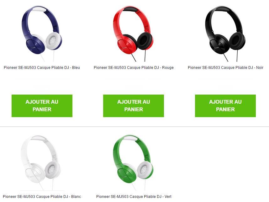 Bon plan casque audio Pioneer à moins de 12 euros port inclus