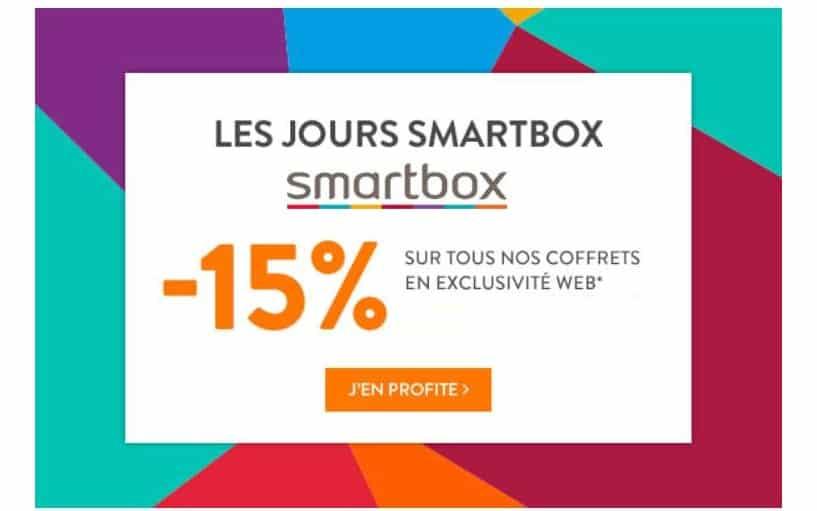 Bon plan coffret cadeau remise sur tout SmartBox