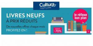 Bon plan livres neufs à prix réduits (jusqu'à -65%) sur Cultura