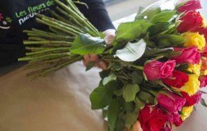 Bouquet de roses moitié prix