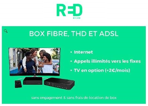 Box RED by SFR à 10€/mois sans engagement