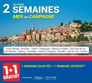 Carrefour Voyages : 1 semaine offerte pour 1 achetée