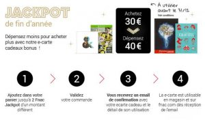E-carte cadeaux FNAC : payez 30€ et dépensez 40€