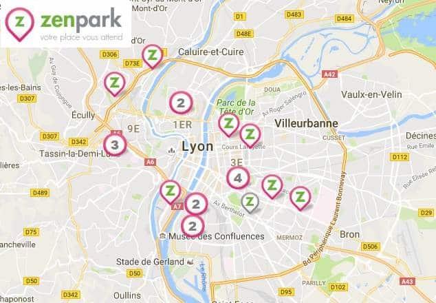 Stationnement gratuit dans les parkings ZenPark Lyon