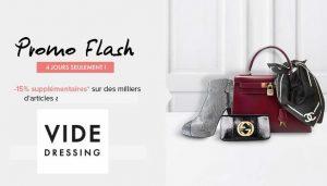 Vide Dressing : 15% supplémentaire sur les Promo Flash