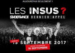 billet pour le concert des Insus au Stade de France