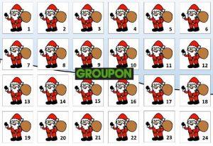 Découvrez le calendrier de l'Avent Groupon :