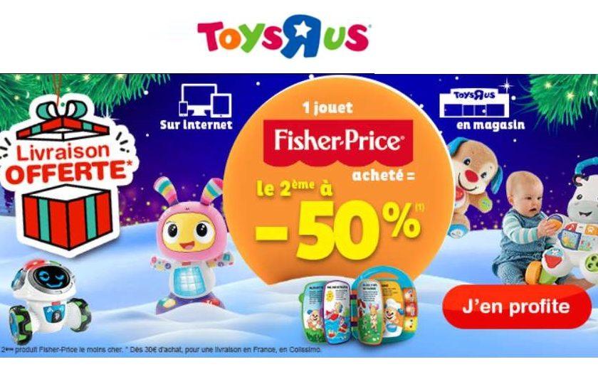second jouet Fisher Price à moitié prix sur Toys'R US