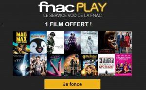 1 film gratuit à télécharger sur FNACPLAY en VOD
