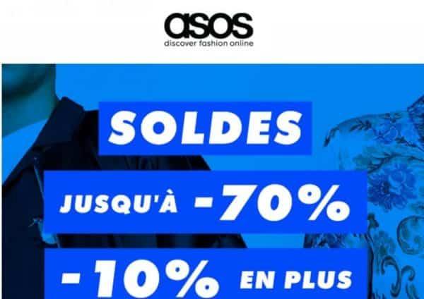 10% en plus sur les soldes ASOS jusqu'à -70%