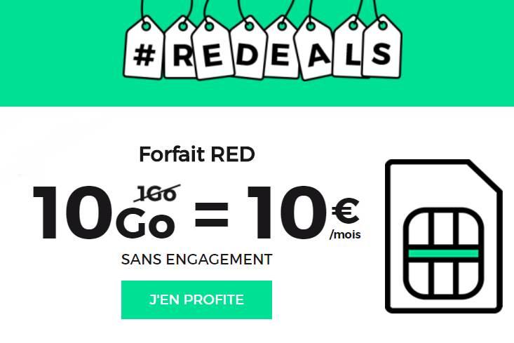 10€ les 10GO à vie sur RED SFR