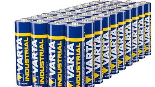 12€ le lot de 40 piles Varta Industrial alcaline