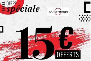 15€ des 100€ soldes Planet Fitness