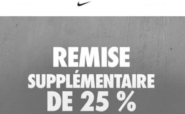 25% supplémentaires soldes Nike