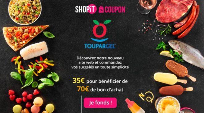 70€ d'achat sur Toupargel pour 35€