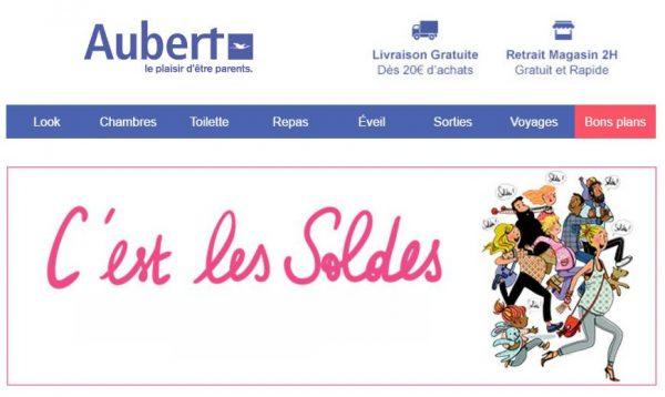 Soldes Aubert : nouvelle démarque
