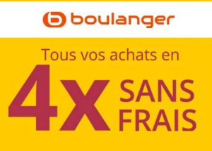 soldes boulanger cr dit gratuit 4x sans frais 0 frais taeg 0 100 2000. Black Bedroom Furniture Sets. Home Design Ideas