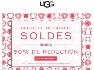 Soldes UGG : nouvelle démarque