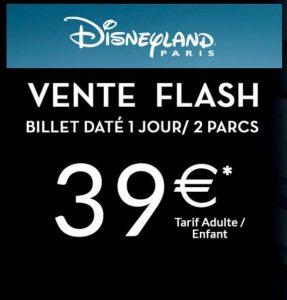 Vente flash billet Disneyland