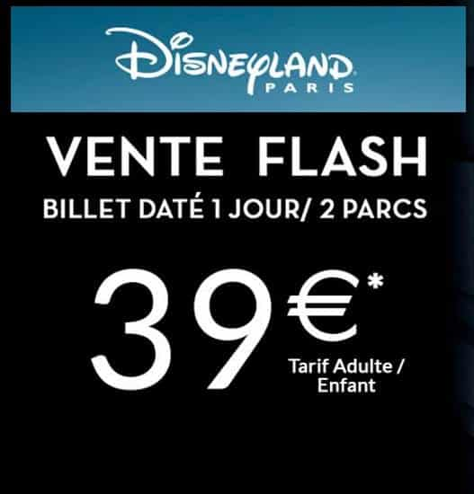 Vente flash billet Disneyland