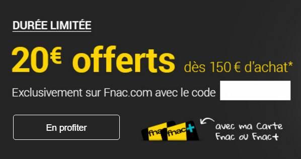 Weekend Adhérent FNAC 20€ offerts