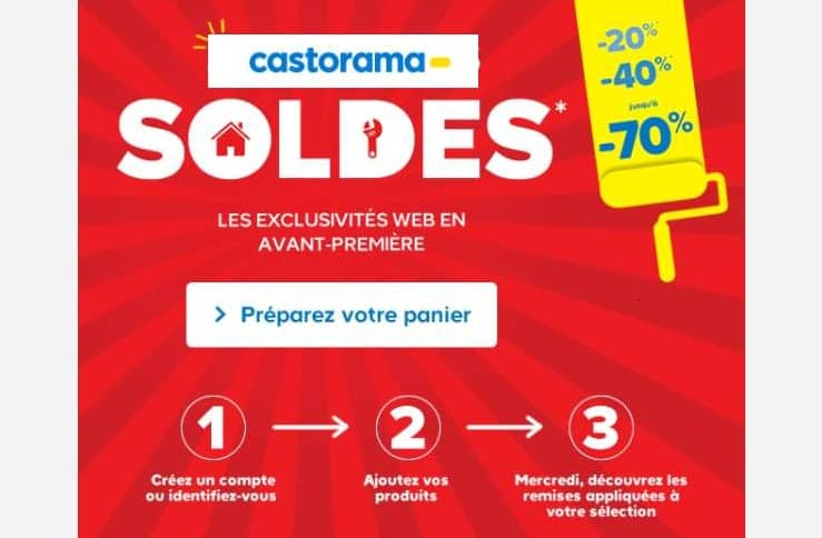 articles en soldes de Castorama