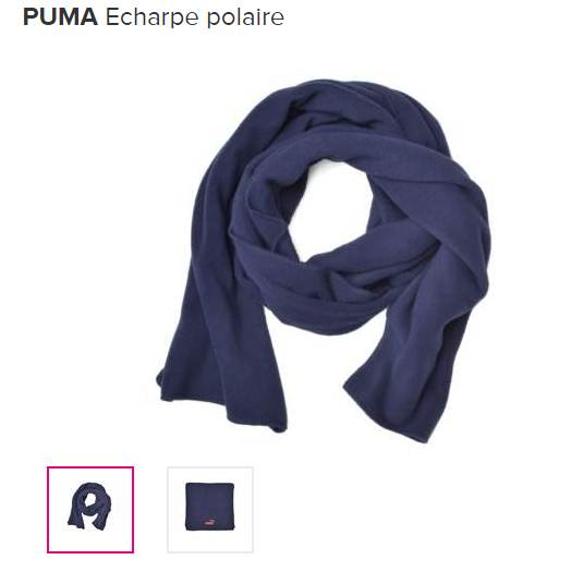 écharpe polaire PUMA à seulement 8 euros