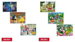 lot de 3 Puzzles Clementoni Disney