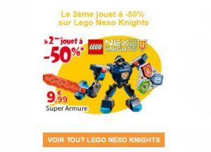 1 boite de Lego Nexo Knights achetée seconde moitié