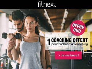 1 coaching Fitnext acheté = second gratuit
