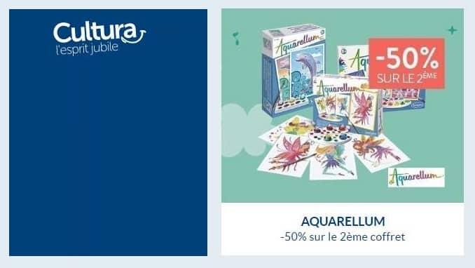 1 coffret Aquarellum de Sentosphere acheté le second à moitié prix