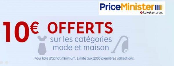 -10€ dès 60€ dans les rayons MAISON et MODE