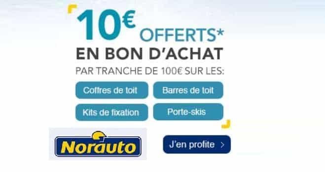 10€ tous les 100€ par Norauto